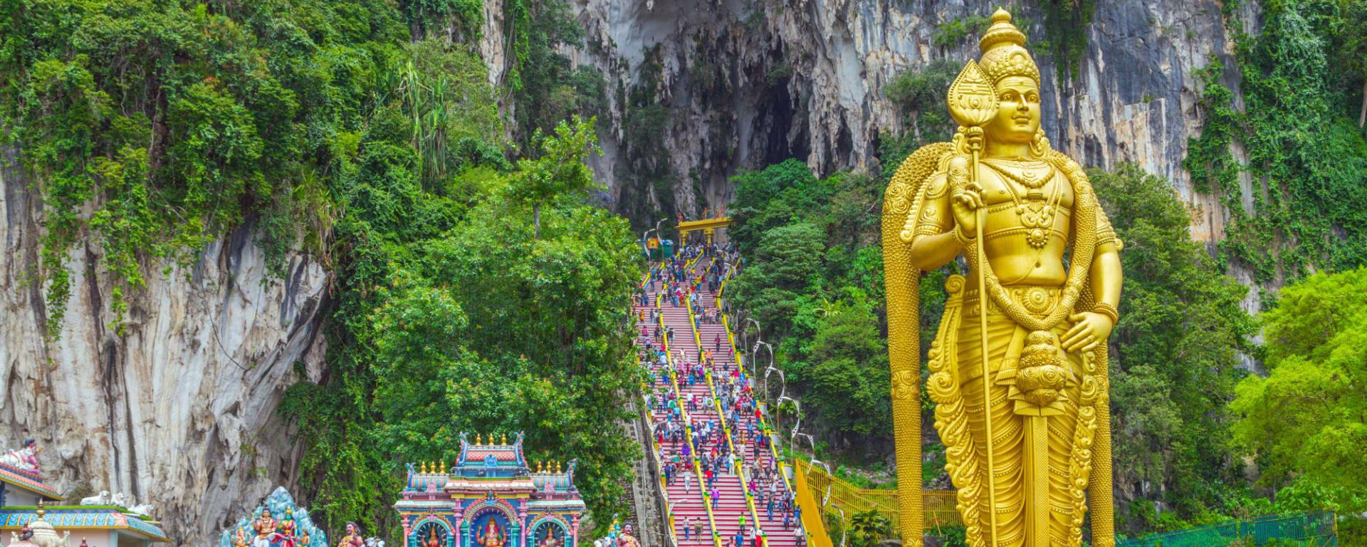 Batu Höhlen, EN, Halbtägig in Kuala Lumpur: Malaysia Kuala Lumpur Batu Hoehlen