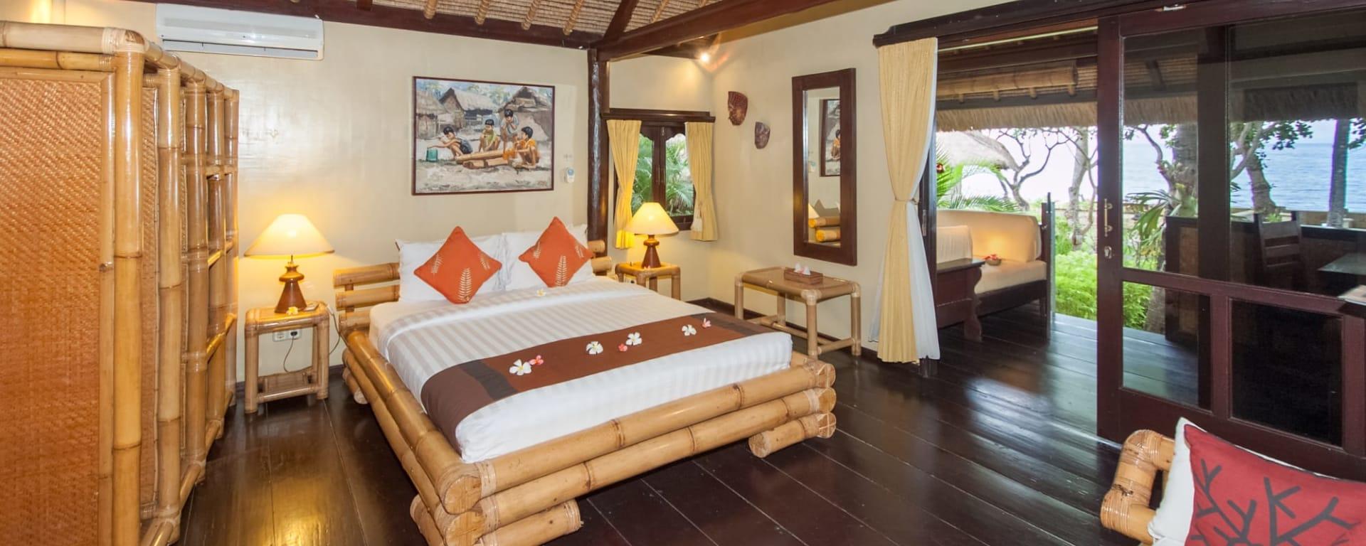 Alam Anda Ocean Front Resort & Spa in Ost-Bali | Sidemen: Alam Anda Ocean Front Resort and Spa Meerblick Zimmer