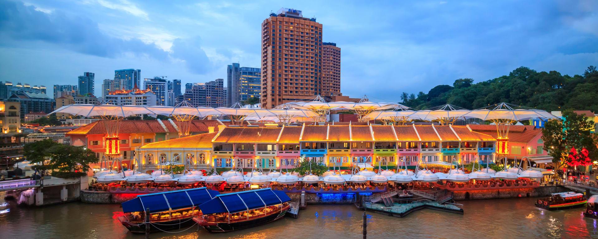 Singapur entdecken mit Tischler Reisen: Singapur Clarke Quay