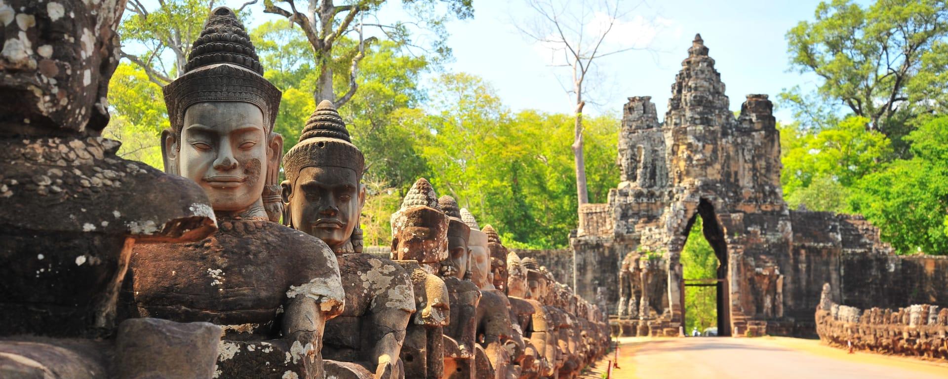 Kambodscha entdecken mit Tischler Reisen: Kambodscha Angkor Thom Steintor