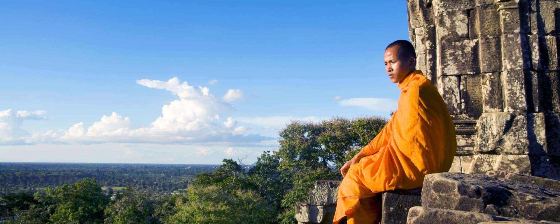 Angkor Wat, DE, Halbtägig in Siem Reap: Kambodscha Siem Reap Angkor Wat Moench