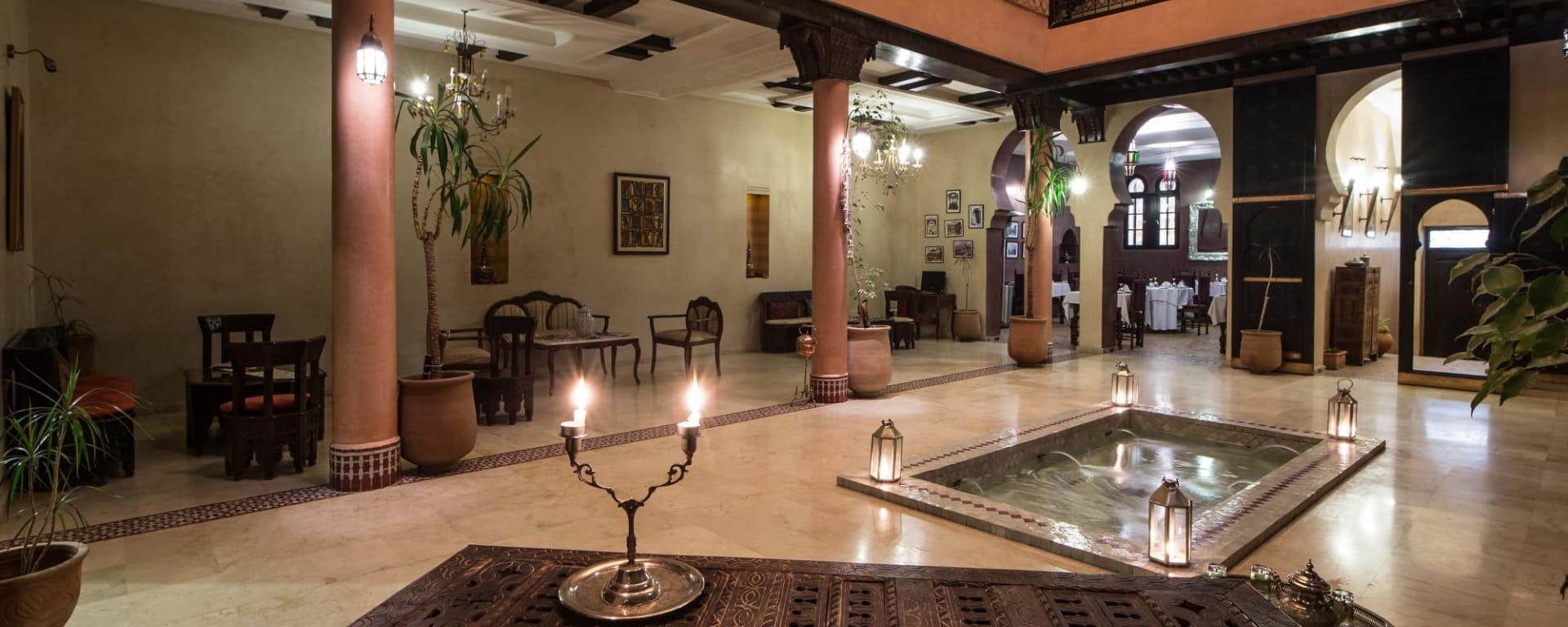 Riad Yacout in Meknès: Marokko Riad Yacout Lobby