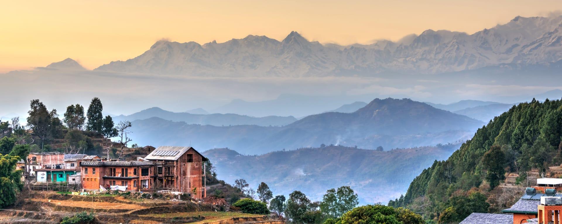 Nepal entdecken mit Tischler Reisen: Nepal Bandipur Panorama