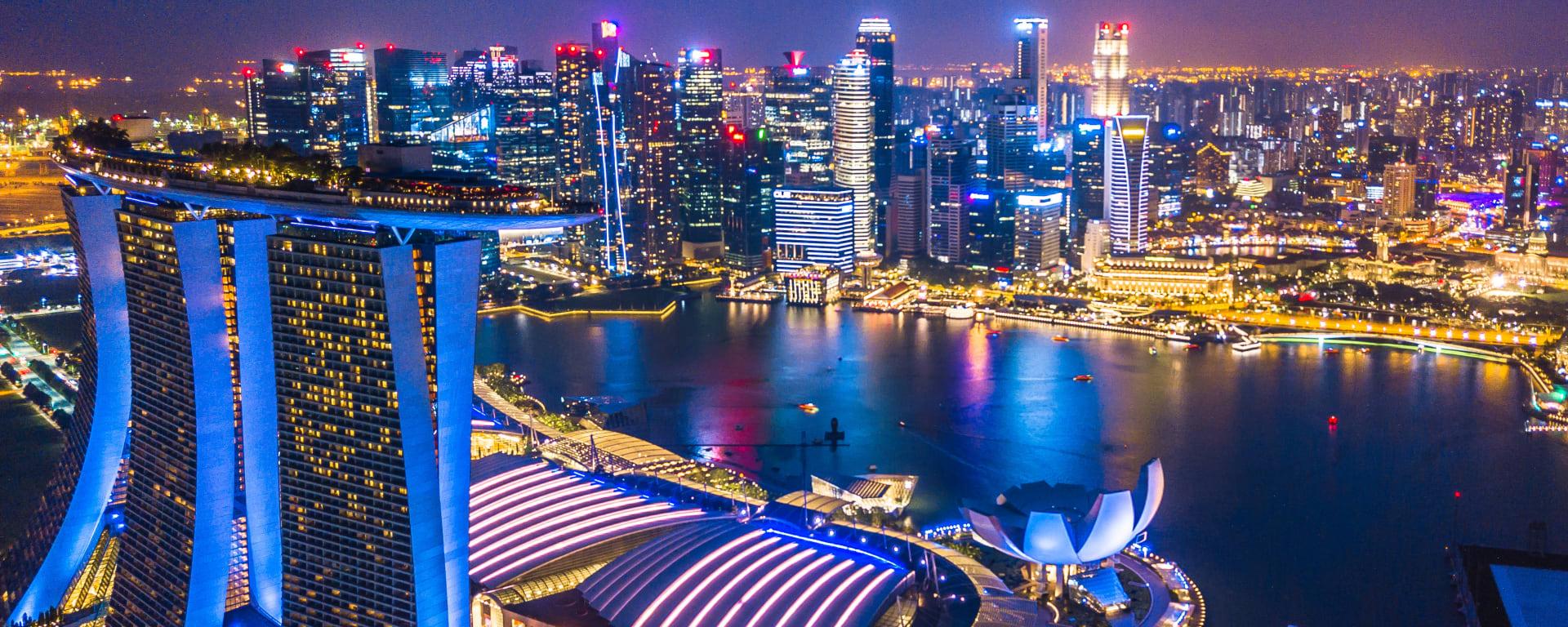 Singapur entdecken mit Tischler Reisen: Singapur Marina Bay Skyline