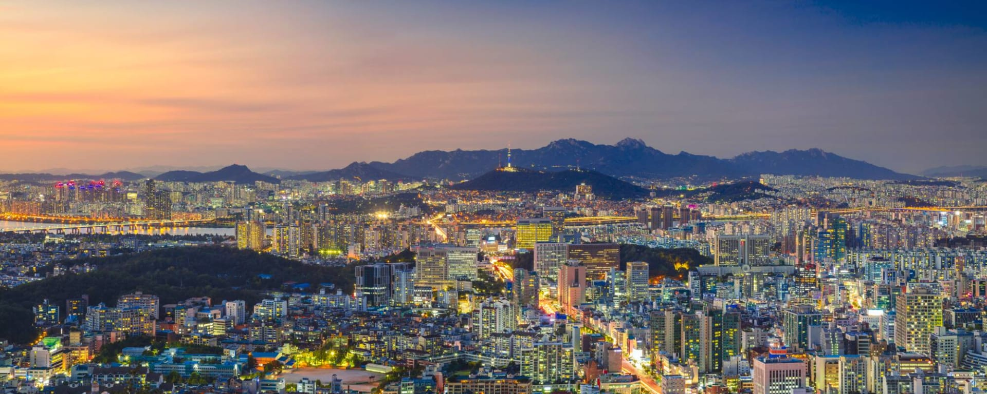 Südkorea entdecken mit Tischler Reisen: Südkorea Seoul Panorama