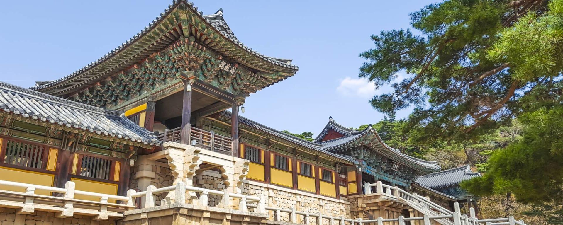 Südkorea entdecken mit Tischler Reisen: Südkorea Gyeongju Bulguksa Tempel