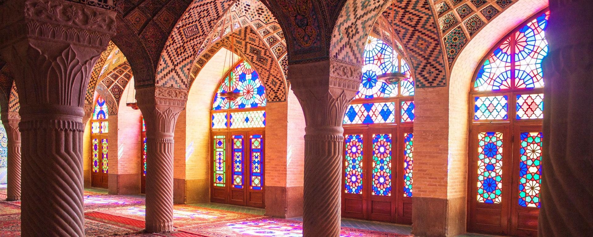 Iran entdecken mit Tischler Reisen: Iran Shiraz Moschee Nazir al Mulk