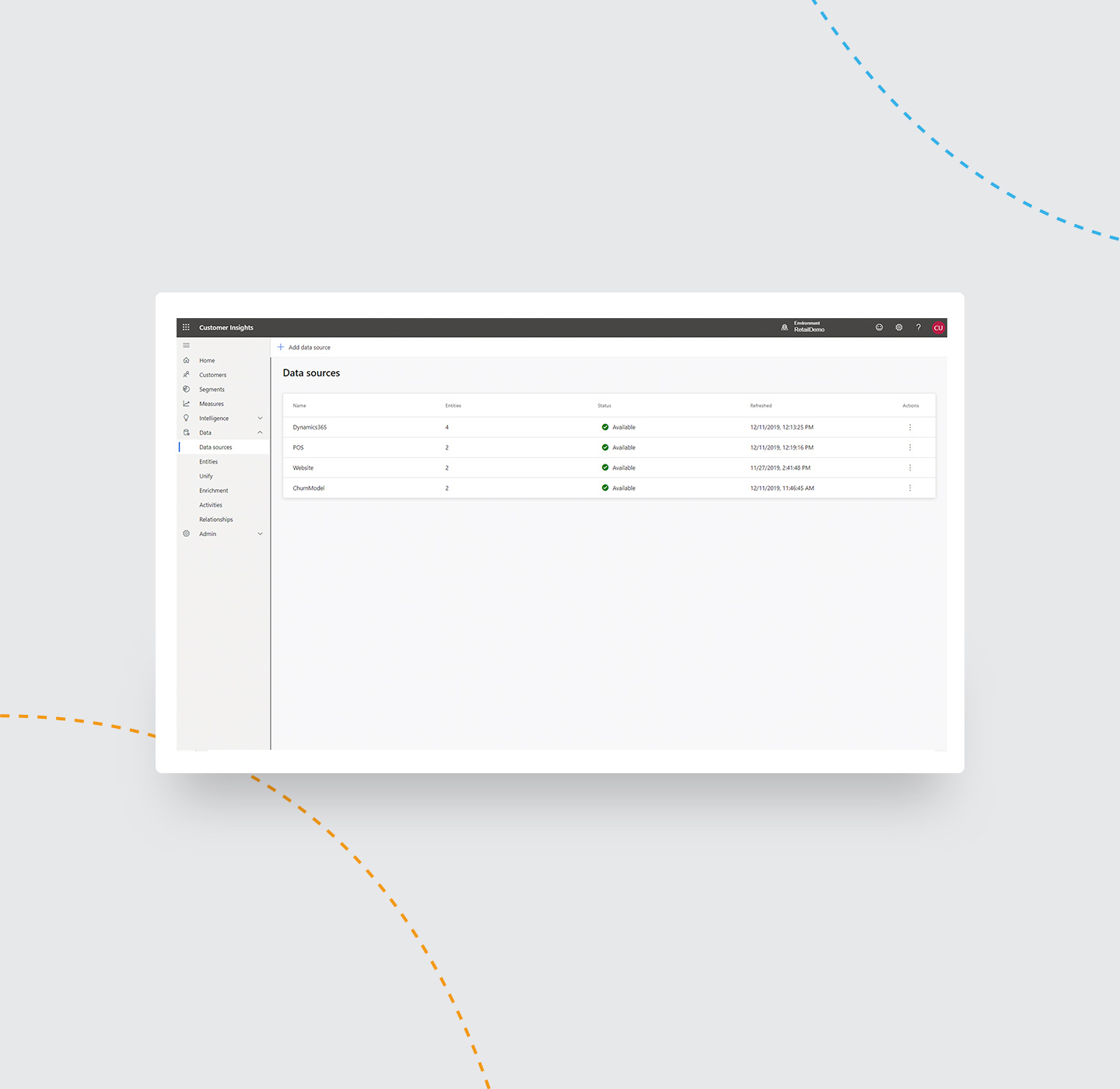 Use connectors to gather data