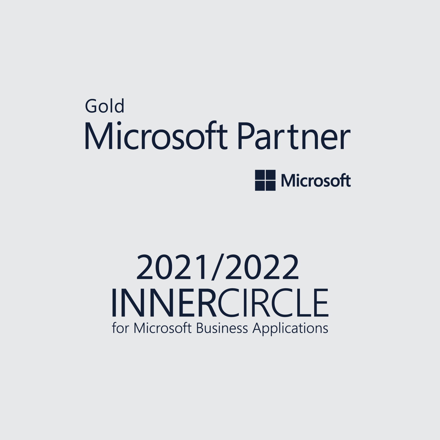 Our Microsoft Gold Partner and Inner Circle status