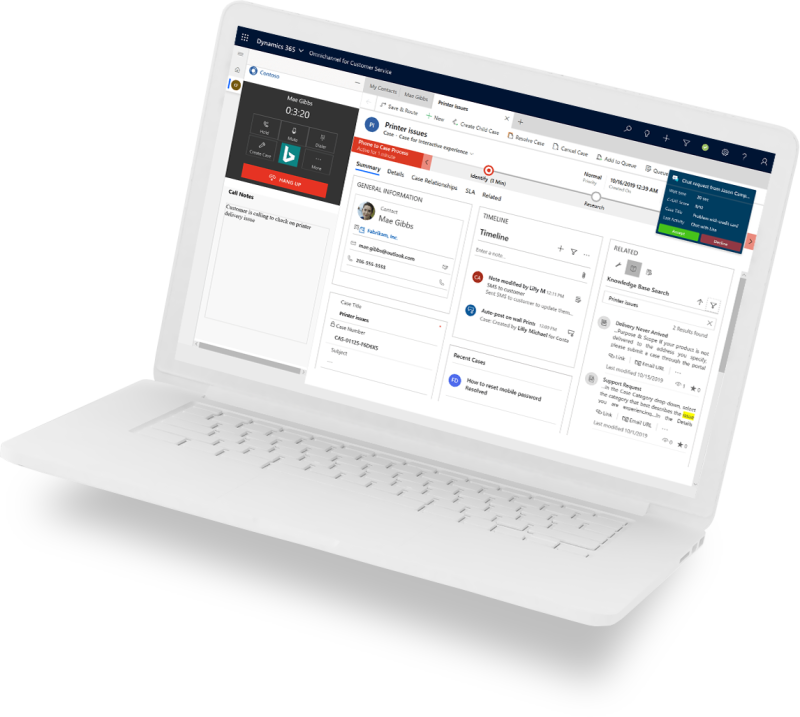 Customer Service laptop image