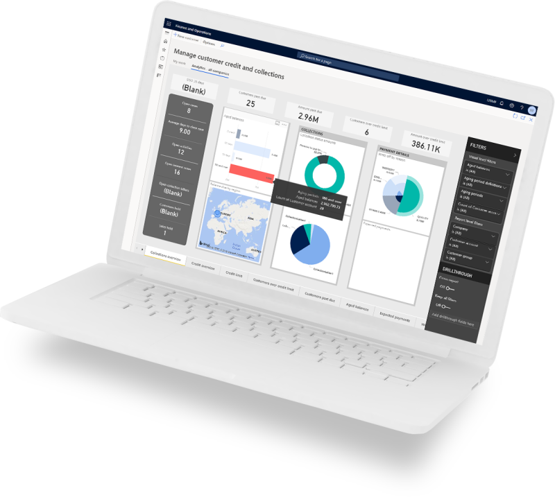 Finance laptop image