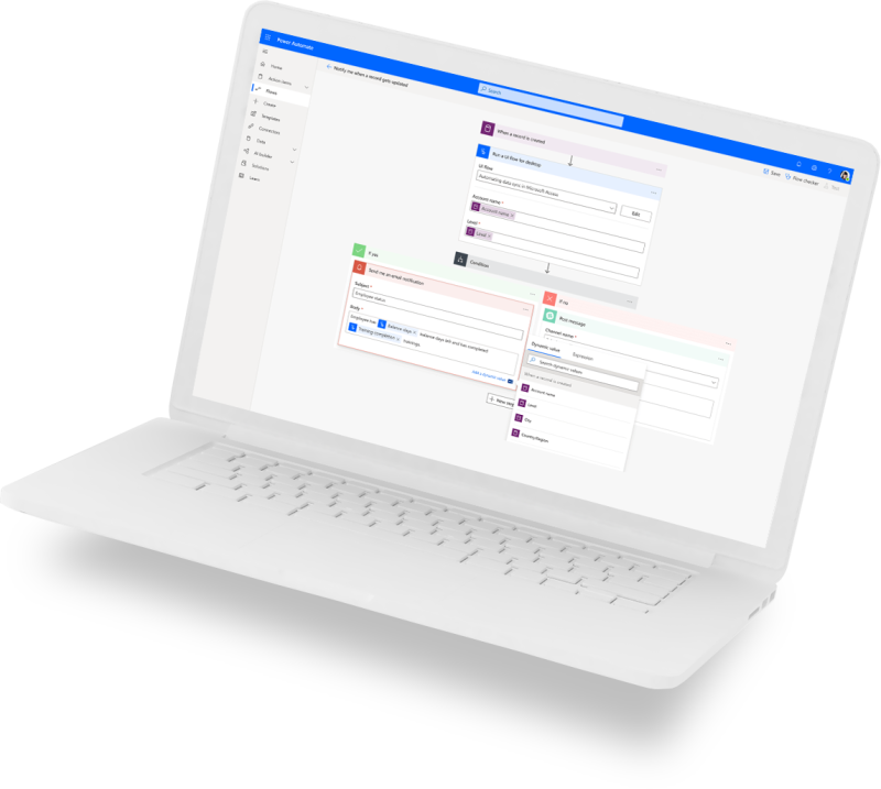 Power Automate laptop image