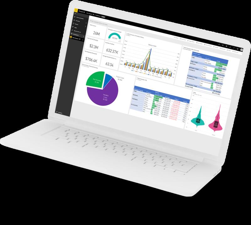 Power BI laptop image