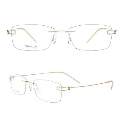 screw-less eyeglass frame