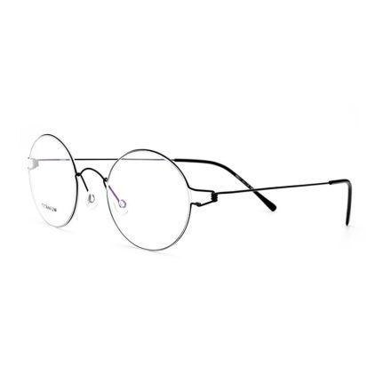 titanium round frames eyeglasses