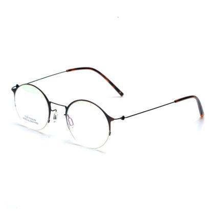 titanium screwless hinge minimalist eyeglasses frames