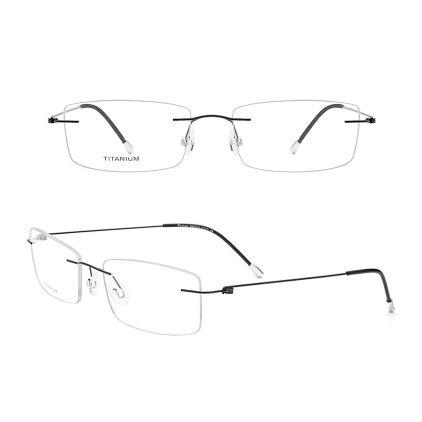 minimalist rimless titanium eyeglasses frames