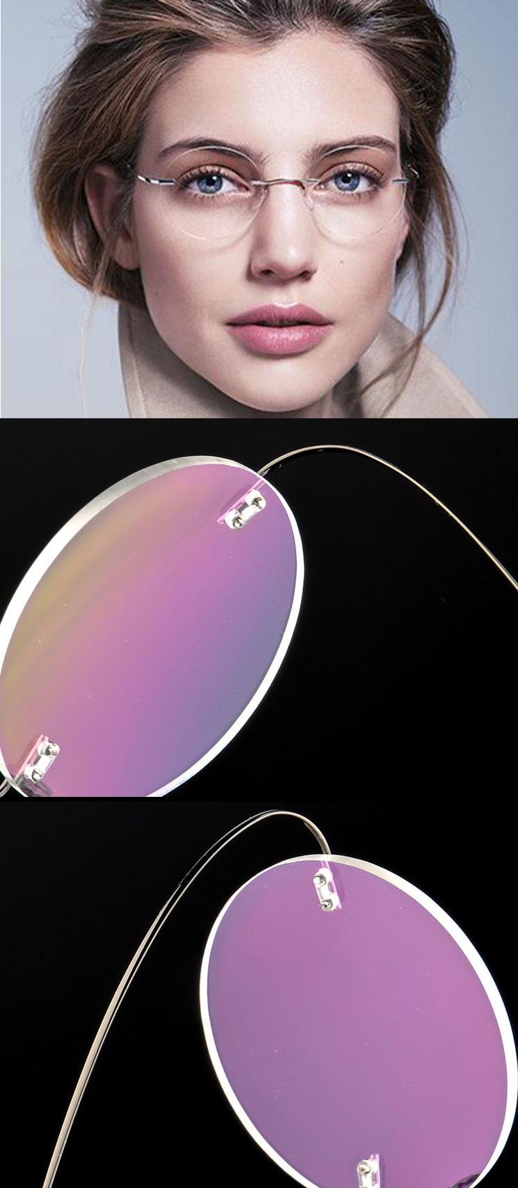 titanium memory metal reading glasses