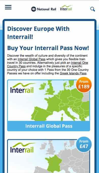 Old Interrail design