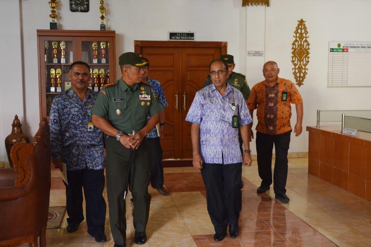 Danrem 043/ Gatam Silaturahmi Ke Pengadilan Tinggi Lampung, Kajati Lampung, Dan Kapolresta Bandar Lampung