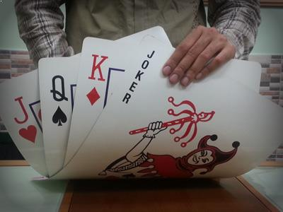 jumbo size playing card