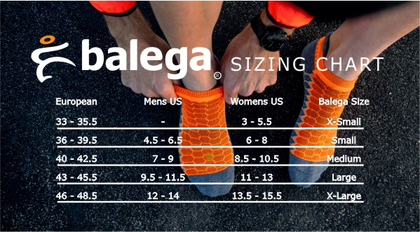 Balega Size Chart