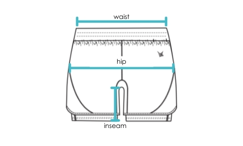 TMR 2 in 1 Shorts Size Measurement Guide