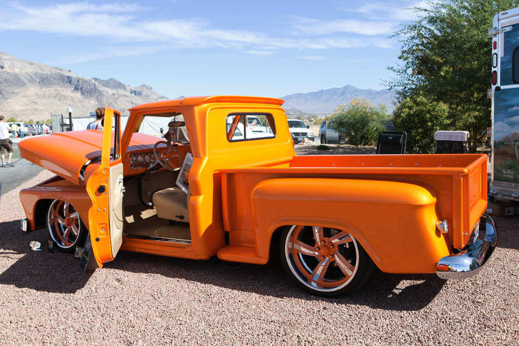 1966 Chevrolet C10 Stepside - Top Notch Car Show 2019 1st winner in class 4 - 1950's and 1960's modified.