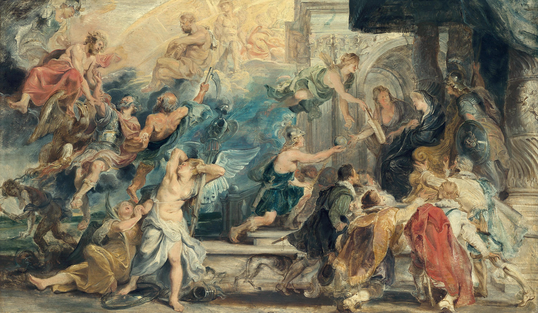 Apotheose Heinrichs IV. und Proklamation der Regentschaft Maria de' Medicis (Skizze zum Medici-Zyklus)