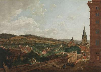 Blick von Schloss Aschaffenburg auf die Stadt gegen Nordosten (Aschaffenburger Zyklus)