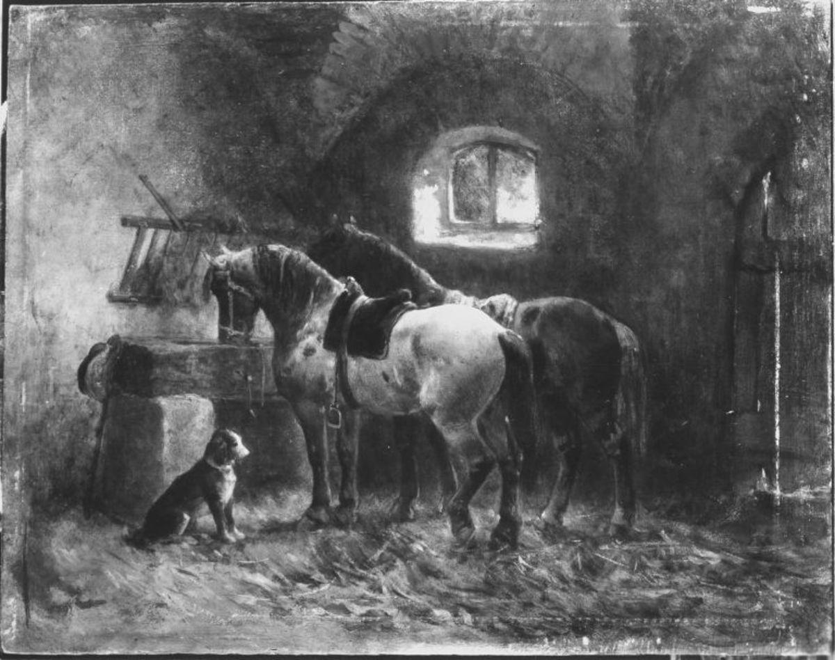 Inneres eines Pferdestalles