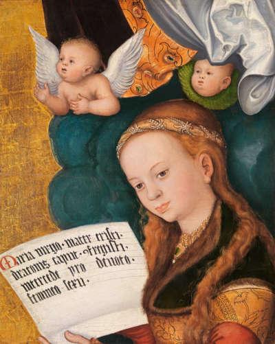 "Fragment vom ""Prager Altar"": Hl. Margaretha"