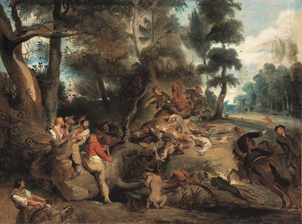 Die Sauhatz (nach Rubens)