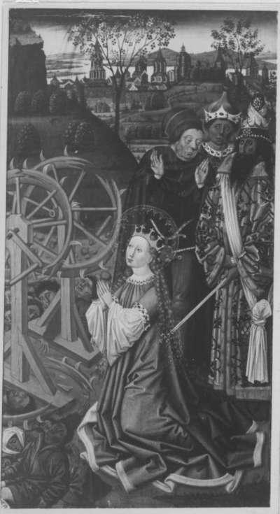 Martyrium der hl. Katharina Rückseite: Verkündigungsengel
