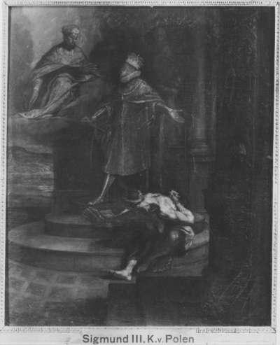 König Sigismund III. von Polen als Sieger über die Ketzerei