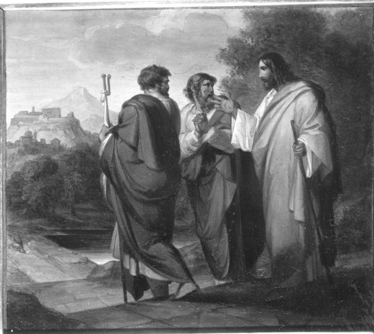 Christus auf dem Weg nach Emmaus