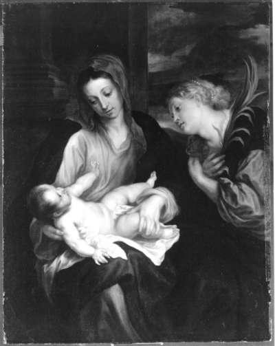 Maria mit dem Christuskind und der hl. Katharina (nach van Dyck)