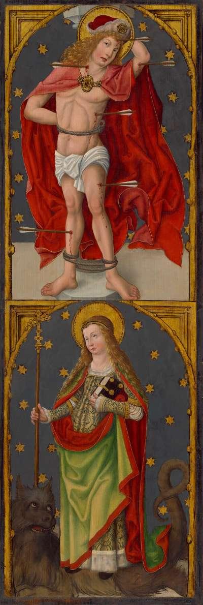 """""""Aschaffenburger Triptychon"""": Die hll. Sebastian und Margaretha"""