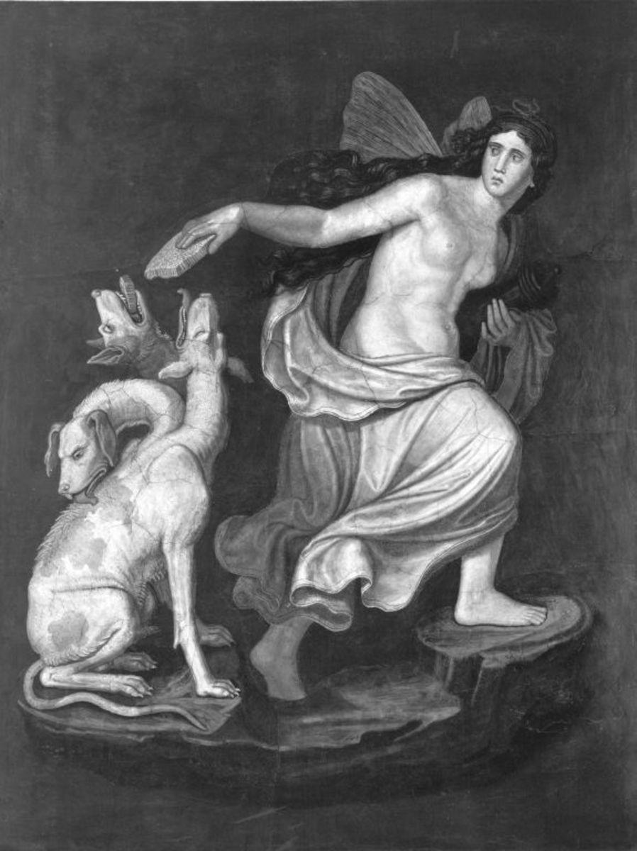 Das Märchen von Amor und Psyche: Psyche und Cerberus