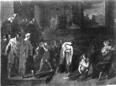 Athenische Kinder werden dem Minotauros zum Opfer bestimmt