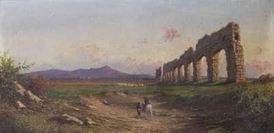 Campagnalandschaft mit Aquädukt