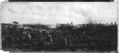 Erstürmung des Eisenbahndammes bei Orléans durch das 13. Bayerische Infanterieregiment am 11. Oktober 1870