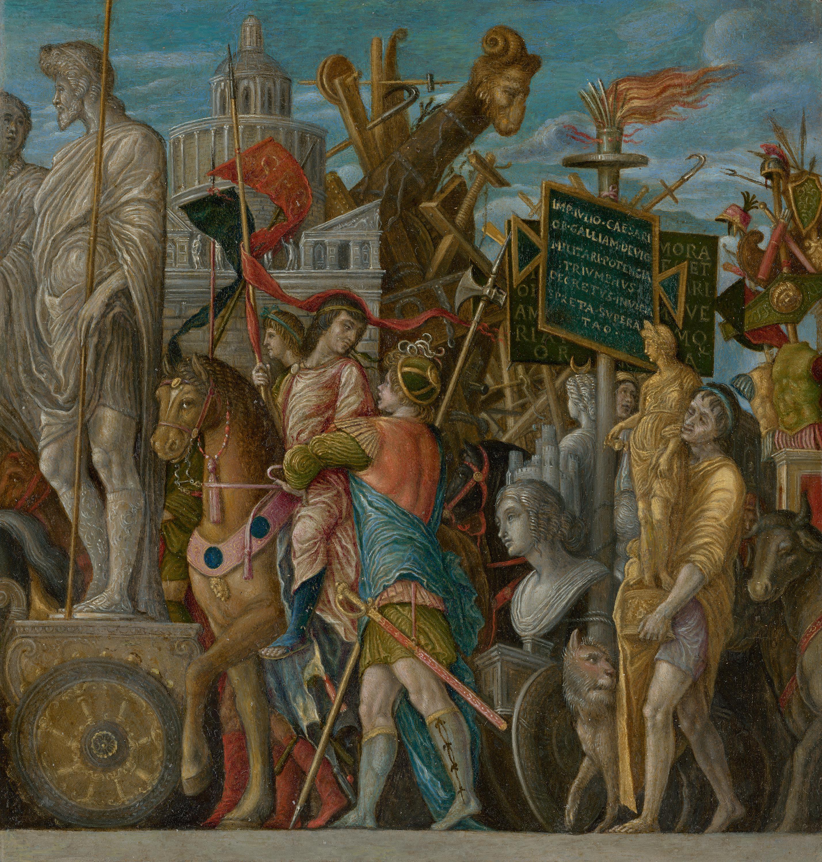 Cäsars Triumphzug I  (Kopie nach Mantegna)