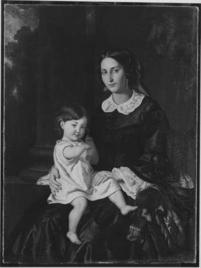 Die Frau des Künstlers mit Kind