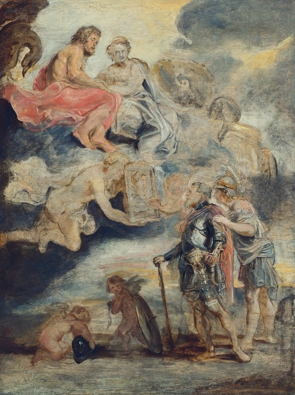 Heinrich IV. empfängt das Bildnis der Maria de' Medici (Skizze zum Medici-Zyklus)
