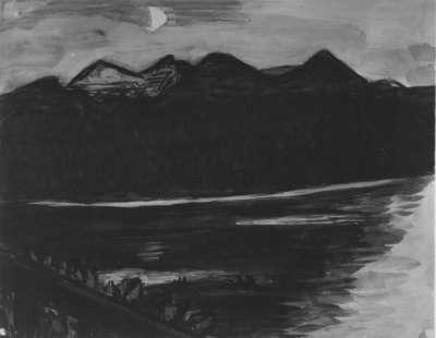 See bei Mondschein