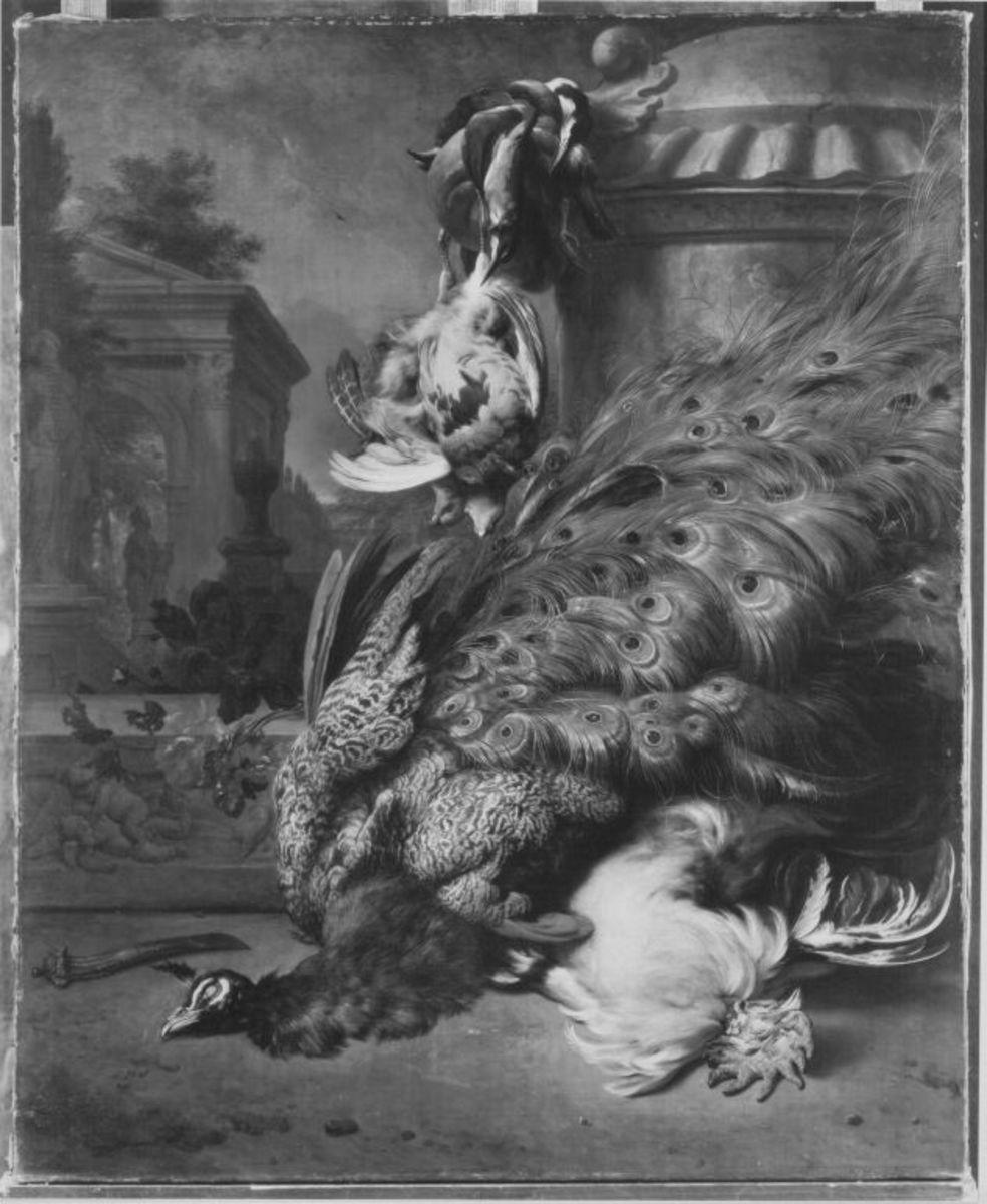 Jagdbeutestillleben mit Vögeln