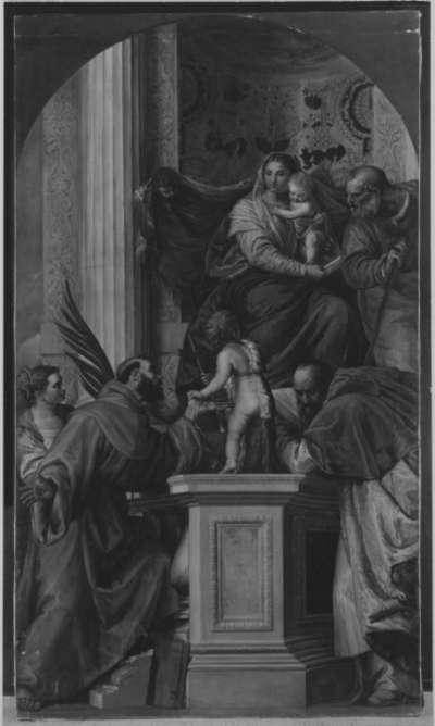 Thronende Madonna mit Heiligen (nach  Veronese)