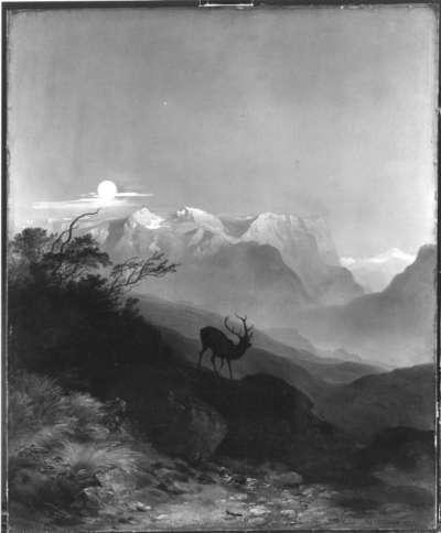Das Tennengebirge bei Mondschein