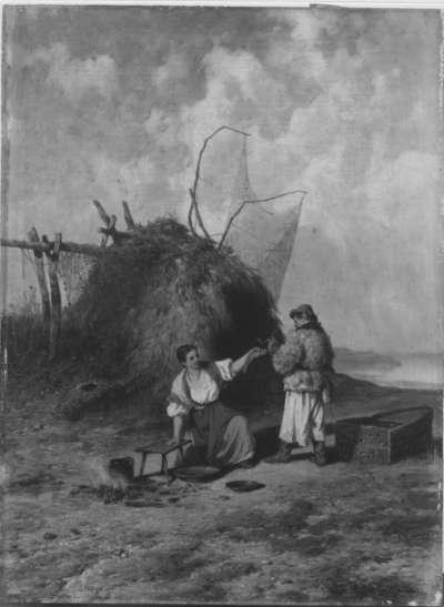 Ungarische Fischer am Strand